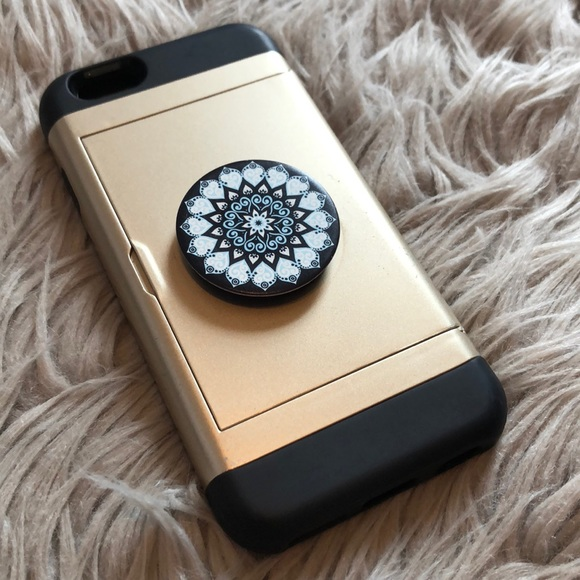 new concept e43eb 5edb3 iPhone 6 case w/ credit card holder & popsocket